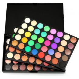 POPFEEL 120 kolorów Gliltter paleta cieni do powiek matowy paleta cieni do oczu Shimmer Shine nago makijaż zestaw palet zestaw k