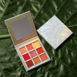 UCANBE marka Shimmer matowy paleta cieni do oczu do makijażu 9 kolory holograficzny Nude Glow Pigment cienie do powiek długotrwa