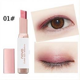 Podwójny kolor kij do cieni do powiek Stereo gradient błyszczący kolor cień do powiek krem długopis paleta do makijażu oczu kosm