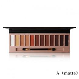 Marka kobiety 12 kolorów Shimmer lub matowy paleta cieni do oczu do makijażu długi trwały cień do oczu naturalne nagie oczy kosm