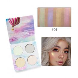 4 kolory Luminous paleta cieni do powiek brokat kameleon oczu cień do powiek w proszku rozjaśnić pigmentu paleta do makijażu wyr