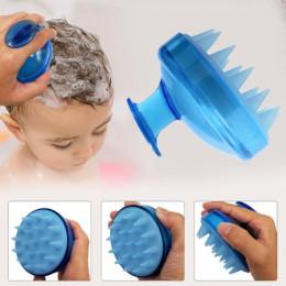 Drop Ship 1 sztuk Salon szczotka do włosów silikonowe Spa szampon szczotka wanna prysznic grzebień szczotka do włosów rekwizyty