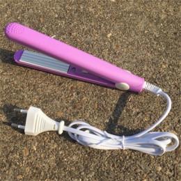 Wysokiej jakości mini prostownica do włosów żelaza różowy ceramiczne prostowanie blachy falistej Curling żelazne narzędzia do st