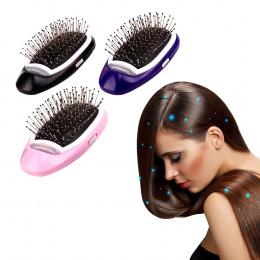 Przenośny elektryczny jonowy szczotka do włosów jonów ujemnych do włosów szczotka grzebień do włosów modelowania stylizacja szcz