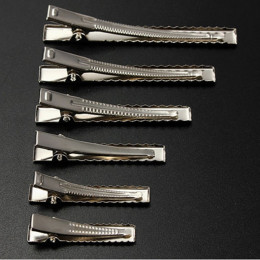 50 sztuk metalowe spinki do włosów Alligator klipy 35mm/40mm/45mm/55mm/65mm /75mm do przybory do stylizowania włosów akcesoria