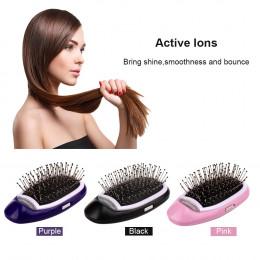 Szczotka do włosów jonowych magia elektryczny grzebień do włosów jonów ujemnych szczotka do włosów modelowania włosów grzebień d