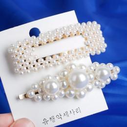 Moda 8 style kobiety koreański Pearl imitacja koraliki klips do włosów Barrette Stick spinka do włosów akcesoria do stylizacji w