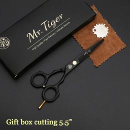 Profesjonalne japońskie nożyczki do strzyżenia włosów klasyczny zestaw fryzjerski do cięcia w etui