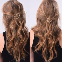 1 PC nowa moda kobiety dziewczyny spinki do włosów dziewczyny gwiazda serce klips do włosów delikatne włosy Pin ozdoby do włosów