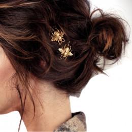 Moda damska 2 sztuk styl dziewczyna wykwintne złota Bee spinka boczna do włosów elegancka ozdoba do włosów klipy słodkie nakryci