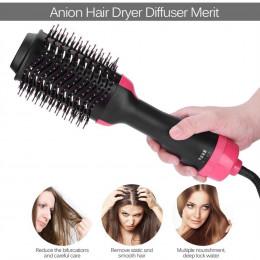 2 w 1 wielofunkcyjne suszarka do włosów Volumizer obracanie gorące szczotka do włosów lokówki rolki obracać lokówki grzebień Sty