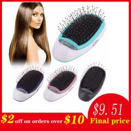 Ionic elektryczne szczotka do włosów, przenośny elektryczny jonowy szczotka do włosów jonów ujemnych do włosów szczotka grzebień