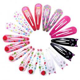 18 sztuk 5cm spinki do włosów Snap spinki do włosów dla dzieci dla dziewczynek akcesoria do włosów dla dzieci słodka spinka do w