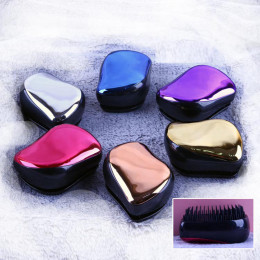 1pc magia antystatyczna do włosów uchwyt pędzla Tangle rozczesywania grzebień prysznic galwaniczną masaż grzebień urządzenie do