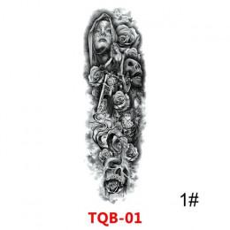Wodoodporna tymczasowa naklejka tatuaż pełne ramię duża czaszka starej szkoły tatuaż naklejki Flash fałszywe tatuaże dla mężczyz