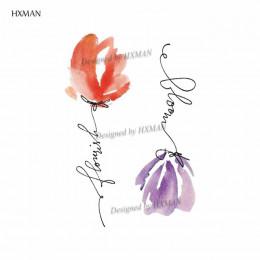 HXMAN kwiat tymczasowe tatuaże dla kobiet ręcznie tatuaż naklejki moda Body Art wodoodporna Arm fałszywy tatuaż papier 9.8X6cm P
