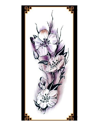 1 Sztuka Nowy Fałszywe Tymczasowe Naklejki Z Tatuażami 28 Style Fioletowe Kwiaty Róża Ramię Ramię Tatuaż Wodoodporna Lady Kobiet
