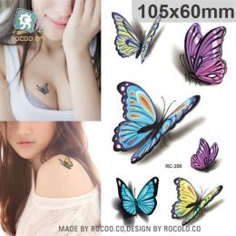 Body Art wodoodporna tymczasowe tatuaże papier kobiety proste 3d kot projekt małe naklejki tatuaż hurtownia RC-458