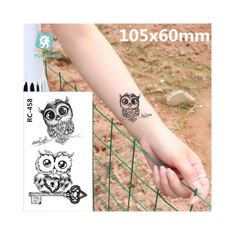 Body Art Wodoodporna Tymczasowe Tatuaże Papier Kobiety