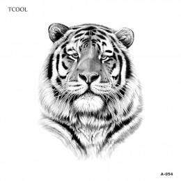 HXMAN tygrys kobiety tymczasowa naklejka tatuaż wodoodporna moda fałszywe Body Art tatuaże zwierzęta 9.8X6 cm dzieci ręcznie a-0