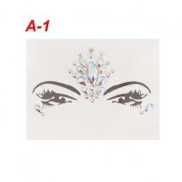 Klej klej twarz Rhinestone tymczasowy tatuaż klejnoty festiwal Party ciało błyskotliwość naklejki makijaż tymczasowe tatuaże nak