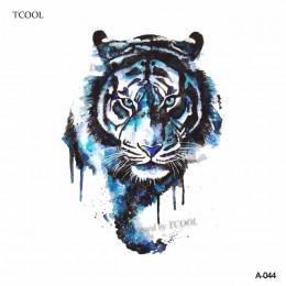 HXMAN tygrys tymczasowy akwarela tatuaż naklejki wodoodporne kobiety moda fałszywe Body Art ramię tatuaże 9.8X6 cm dzieci ręczni