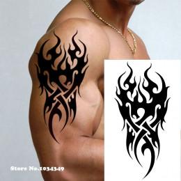 Wodoodporny tymczasowy tatuaż mężczyźni ogień tatuaż eagle lotosu Mandala oko płomienia totem 12*19 cm Transfer wody fałszywy ta