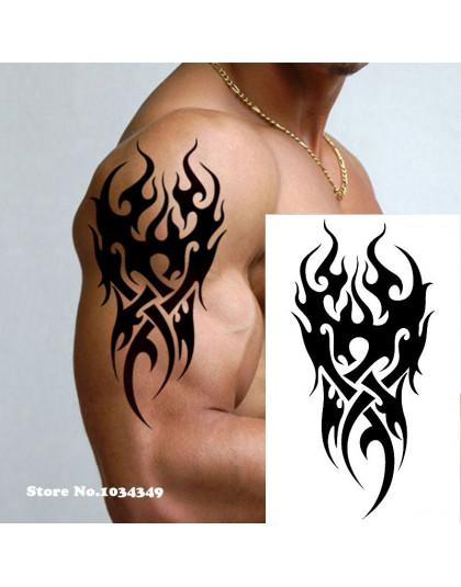 Wodoodporny Tymczasowy Tatuaż Mężczyźni Ogień Tatuaż Eagle Lotosu Mandala Oko Płomienia Totem 1219 Cm Transfer Wody Fałszywy Ta