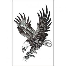 2 P kwiat fałszywe tatuaże StickerWaterproof Eagle tymczasowe tatuaże 3D 8.24