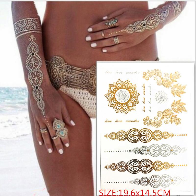 Hot Sprzedaży Tymczasowy Tatuaż Złoty Tatuaż Produkty
