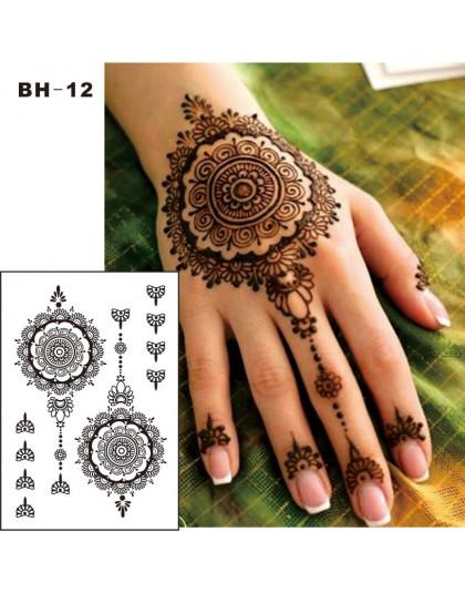 Bh 12 1 Sztuka Czarny Henna Tymczasowy Tatuaż Na Ręce Inspirowane Naklejki Ciała