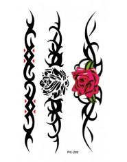RC2292 wodoodporna tymczasowa naklejki z tatuażami transferu wody tatuaż naklejki moda Body Art fałszywy tatuaż tatuajes Rose kw