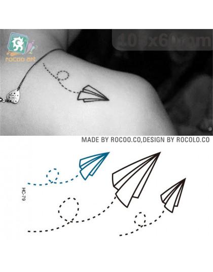 Jednorazowe Wodoodporne Ciała Tatuaż Naklejki Z Tatuażami Papier Samolot Samochód Naklejki Z Hc1079