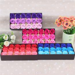 18 sztuk zapachowych płatek róży kwiat płatek ciała mydło wesele prezent