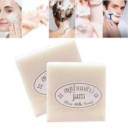 Mleko ryżowe mydło wyrabiane ręcznie mydło wybielające kolagen witamina wybielanie skóry narzędzie do kąpieli mleko ryżowe mydło