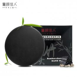 Bambusowy węgiel drzewny mydło wyrabiane ręcznie do pielęgnacji skóry wybielanie zaskórnika Remover trądzik leczenie mycia twarz