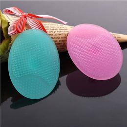 Gorąca sprzedaż 1 PC żel silikonowy w kształcie jajka mycie twarzy czyszczenie Pad do twarzy złuszczający szczotka SPA peeling s
