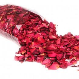 Suszone płatki róży czerwonej naturalne do kąpieli aromaterapia SPA