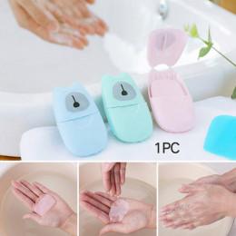 50/20 sztuk jednorazowe Mini podróży mydło papier płyn do mycia rąk czyszczenie przenośne w pudełku mydła w papier pachnące arku