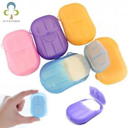 10 pudełek (20 sztuk/pudło) wygodne mycie rąk mydło w płynie podróży przenośne pachnące plastry arkusze piankowe pudełko papiero
