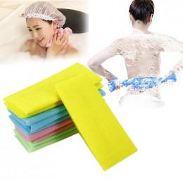 Nowy 1 sztuk Nylon złuszczający wanna prysznic mycie ciała do czyszczenia szorowania ręcznik płuczki losowy kolor ciała ręcznik