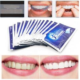 28 sztuk/14 Pair 3D biały żel paski do wybielania zębów jamy ustnej dbanie o higienę podwójne elastyczne zęby paski wybielanie D