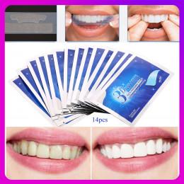 28 sztuk/14 para paski do wybielania zębów 3D biały żel do zębów zestaw dentystyczny jamy ustnej dbanie o higienę taśmy dla fałs