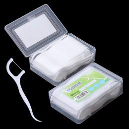 50 sztuk Dental Flosser dentystyczna opcji zęby wykałaczki kij do czyszczenia zębów pielęgnacji jamy ustnej 7.5 cm