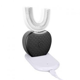 360 stopni inteligentny automatyczny elektryczna soniczna szczoteczka do zębów w kształcie litery U 4 tryby szczotka do zębów ła