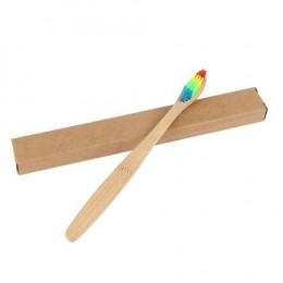 1pc Dropshipping przyjazne dla środowiska węgiel bambusowy naturalny szczoteczka do zębów miękkie włosie o niskiej emisji dwutle