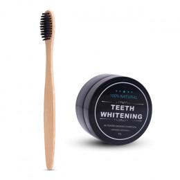 Wybielanie zębów Bamboo szczoteczka z węglem drzewnym z miękkim włosiem drewniane szczotka do zębów zębów proszek do higieny jam