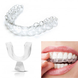 Nowy 4 sztuk silikonowe noc ochraniacz na zęby do zębów zaciskanie szlifowania Dental Bite pomoc snu wybielanie zębów tacy usta