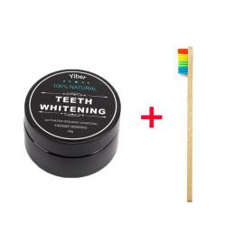 Proszek do wybielania zębów naturalny węgiel aktywowany w proszku biały ząb Bamboo pasta do zębów narzędzia stomatologiczne higi
