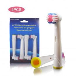 4 sztuk Oral B części zamienne do elektrycznej szczoteczki do zębów głowy dla Braun szczotka do zębów higieny jamy ustnej witaln